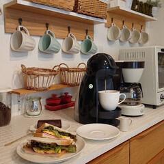自宅カフェ/お一人様ランチ/キッチン/令和元年フォト投稿キャンペーン たまぁにお一人様の時はちょっとだけカフェ…