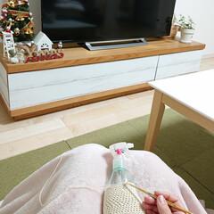 クリスマス/スプレーカバー/編み物 今日はイヴですね✨ 我が家は明日クリスマ…