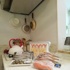 TAKARASTANDARD/ナチュラルインテリア/キッチン/魚 今日は角上魚類に魚を買ってきました♪こち…