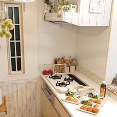キッチン/メンチカツ/お惣菜/DIY/ニトリ/ごはん 昨日の夕飯はサイボクハムのお惣菜コロッケ…