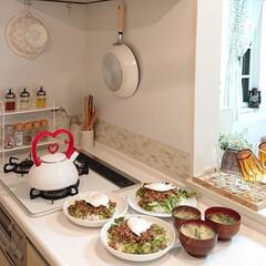 お家ごはん/夕飯/タコライス/わたしのごはん 昨日の夕飯はタコライス作りました☺️ タ…