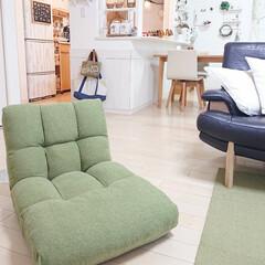 リビング/座椅子/ニトリ チロルもお気に入りのニトリの座椅子です♪…
