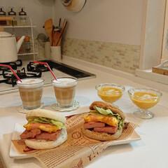 カボチャのスープ/娘の手料理/スパムサンド/はらぺこグルメ 小5娘が夏休みの宿題で作ってくれたお昼ご…