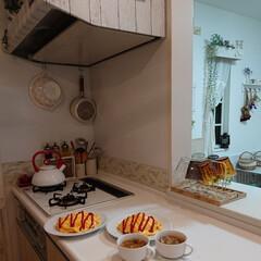 オムライス/夕飯/娘の手料理/あさりのお味噌汁/おうちごはん 今日娘が作ってくれたあさりのお味噌汁に、…