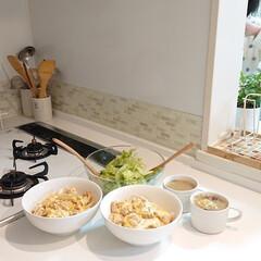 おうちご飯/親子丼/キッチン/わたしのごはん 昨日の夕飯は親子丼です(*´∀`) 久し…