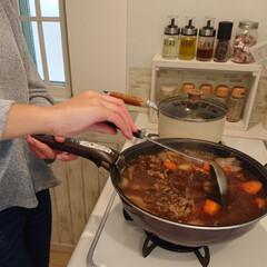 リミアな暮らし/夕飯/娘の手料理/ビーフシチュー ビーフシチュー完成しました🙌 とっても美…