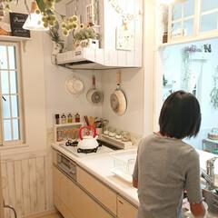 食器洗い/お手伝い/娘のお手伝い 小5娘ちゃん♪ 夏休みは今日までです♪ …