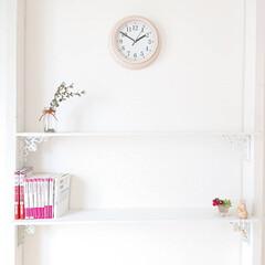 時計/スリコ/リミアな暮らし/100均/DIY 小5娘ちゃんの部屋に作った本棚。 ディス…