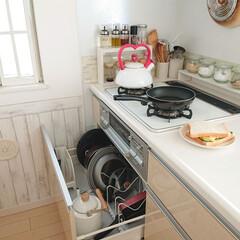 ティファール 鍋 フライパン 9点 セット 着脱式取っ手 蓋 付 インジニオ・ネオ スカーレット セット9 IH対応 L32591 | ティファール(フライパン)を使ったクチコミ「1人分のサンドイッチを作るときは、小さな…」
