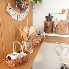ナチュキチ雑貨/リミアな暮らし/100均/キッチン雑貨 ナチュラルキッチンで、小さなかごを買いま…