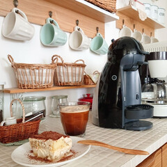 Nestle/ネスレ MD9744-PB ネスカフェ ドルチェグスト Piccolo プレミアム | ネスカフェ ドルチェ グスト(コーヒーメーカー)を使ったクチコミ「ティラミス完成~🙌 始めて旦那さんと、小…」