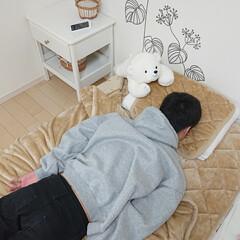 イケア/ホームコーディヒート寝具セット/寝具セット …。大学1年息子君。 写真撮っていたら邪…