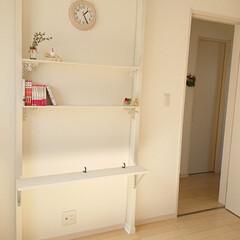 本棚DIY/娘の部屋/リミアな暮らし/DIY 昨日DIYしたカバン掛けは、棚にもなりま…