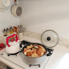夕飯/おでん/おうち/ごはん 今日の夕飯は寒いのでおでんを作りました☺…