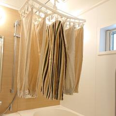 お風呂場/洗濯物/浴室乾燥/ニトリタオル/ニトリ/洗濯どうしてる? じめじめして、肌寒い時期は洗濯物が乾かな…