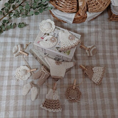 ガーランド/編み物大好き/ハンドメイド 編み物で沢山小物作ってます🎵 全部ガーラ…