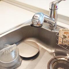 排水口/シンク/キッチン/おうち キッチンの排水口の掃除しました♪ 排水口…