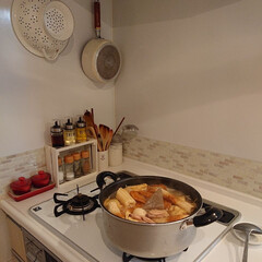 夕飯/TAKARASTANDARD/おでん/おうちごはん/キッチン/DIY 今日はちょっと出掛けるので、朝から夕飯の…