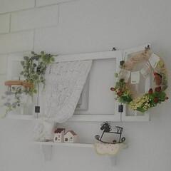 リース手作り/編み物/100均/DIY 寝室にある、小さな換気扇をフォトフレーム…