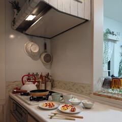 キッチン/スクランブルエッグ/娘の料理/朝ごはん 今朝娘小4が私に朝ごはんを作ってくれまし…(1枚目)