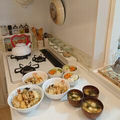 夕飯/天丼/天ぷら/キッチン雑貨 天丼作りました🙌 てんやの天ぷら美味しい…
