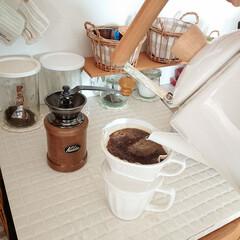 weck WECK ウェック キャニスター ガラス モールド シェイプ 750 ml WE-743 保存 容器 保存容器 耐熱ガラス 密閉 保存瓶 おしゃれ キッチン収納 かわいい | ウェック(食品保存容器)を使ったクチコミ「日曜日の朝はゆっくりコーヒーを作って、ゆ…」