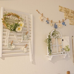 玄関/Vita/ナチュラルキッチン/ハンドメイド/DIY/雑貨だいすき 玄関の壁にナチュラルキッチン・vitaで…