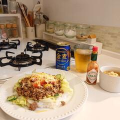 WECK チューリップ シェイプ 370ml WE-746 WE-746 ウェック | ウェック(ガラス瓶、キャニスター)を使ったクチコミ「今日の夕飯は、タコライス&野菜スープです…」