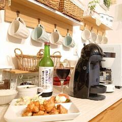 夕飯/暮らし/DIY/ニトリ/100均 今日は旦那さんがお休みだったので夕飯作っ…