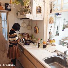 Takara standard/娘の手料理/キッチン/DIY/カフェ風/対面キッチン/... 料理する事が好きな小6娘ちゃん。 使いや…
