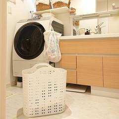 かご/洗濯物入れ/ニトリ 今日はニトリで洗濯物を入れるかごを買いま…