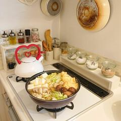 鍋/あごだしの鍋/キッチン雑貨 あごだしの鍋🍲出来ました。 鶏肉の肉団子…