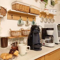 ドーナツ/お家カフェ/セリア/DIY/おうちカフェ ミスタードーナツでお家カフェしました☺️…(1枚目)