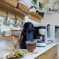 カゴ収納/コーヒータイム/ドルチェグスト/ダイソー/100均/ニトリ 我が家の食器はだいたい、100均です♪少…