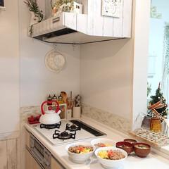 キッチン/そぼろ丼/DIY/ごはん 昨日はクリスマスでしたが、イヴに沢山料理…