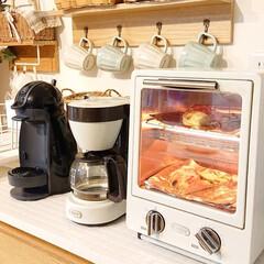 キッチン/トースター/ピザ/わたしのごはん/DIY/100均 オーケースーパーで買ったピザに、少しスラ…