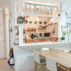 カフェ風インテリア/ラブリコDIY/DIY/みんなにおすすめ ラブリコを使ってキッチン周りをDIYしま…