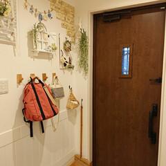 ハンプティーダンプティー/山善/テイクミーリュック/玄関/100均/DIY 久しぶりに玄関を撮ってみました。 冬にな…