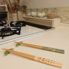 お箸/ナチュキチ雑貨/100均/DIY ナチュラルキッチンでお箸買いました♪ 桜…
