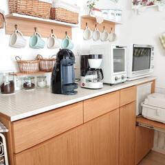 トースター オーブントースター おしゃれ 2枚 縦型 オリジナルレシピ付 コンパクト キッチン家電 プレゼント ラドンナ Toffy トフィ―オーブントースター | Toffy(トースター)を使ったクチコミ「マグカップ収納は、ニトリのシェルフにフッ…」