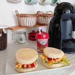 タマゴサンド/ランチ/キッチン/わたしのごはん 昨日のお昼ご飯は、タマゴサンド作りました…