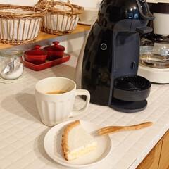 自宅カフェ/ドルチェグスト/レアチーズケーキ/100均/甘党大集合 スーパーマーケットでレアチーズケーキ買っ…