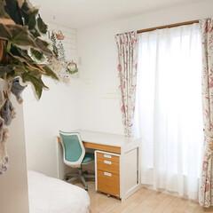 娘の部屋/学習机/リミアな暮らし/DIY 兄の部屋でほとんど使っていない机を、妹の…