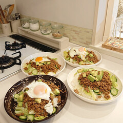 タコライス/ハンプティーダンプティー/はんぷ亭/娘の手料理 昨日の夕飯は小5娘ちゃんが、1人でタコラ…