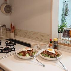 定番メニュー/タコライス/わたしのごはん 昨日の夕飯はタコライス⤴️ 簡単に作れて…