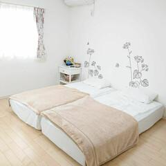 ニトリ/寝室/毛布/DIY 最近朝晩が寒くなってきたので毛布出しまし…