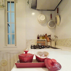 Takara standardキッチン/ルクルーゼ/DIY いただいたル・クルーゼの中にコンソメ入れ…