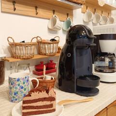 チョコレートケーキ/お家カフェ/リミアな暮らし/100均/DIY/雑貨 旦那さんがチョコレートケーキを買ってきて…