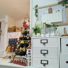 クリスマス雑貨/ツリー/100均/DIY/雑貨 小さなツリーをだしました♪ スリコ、セリ…