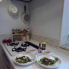 TAKARASTANDARD/料理/タコライス/夕飯 昨日の夕飯は、タコライスにしました🙌お肉…
